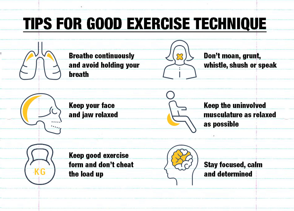 Tips for good exercise technique