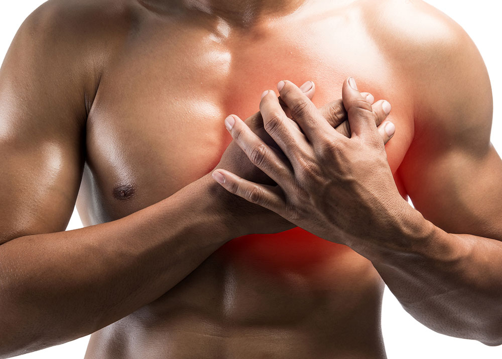 One common area you may experience DOMS is the chest.